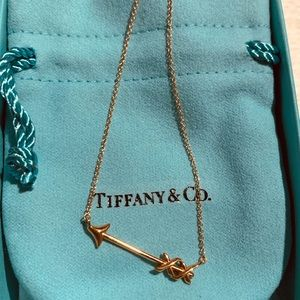 T&Co. Paloma's Grafitti Arrow Rose Gold Necklace